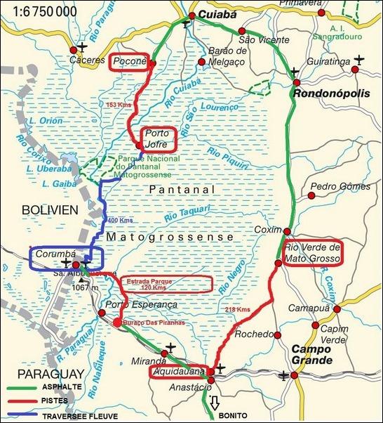 Carte Amerique Du Sud Pantanal.Pantanal Sud 01 Au 04 08 Les Tis Elf En Vadrouille